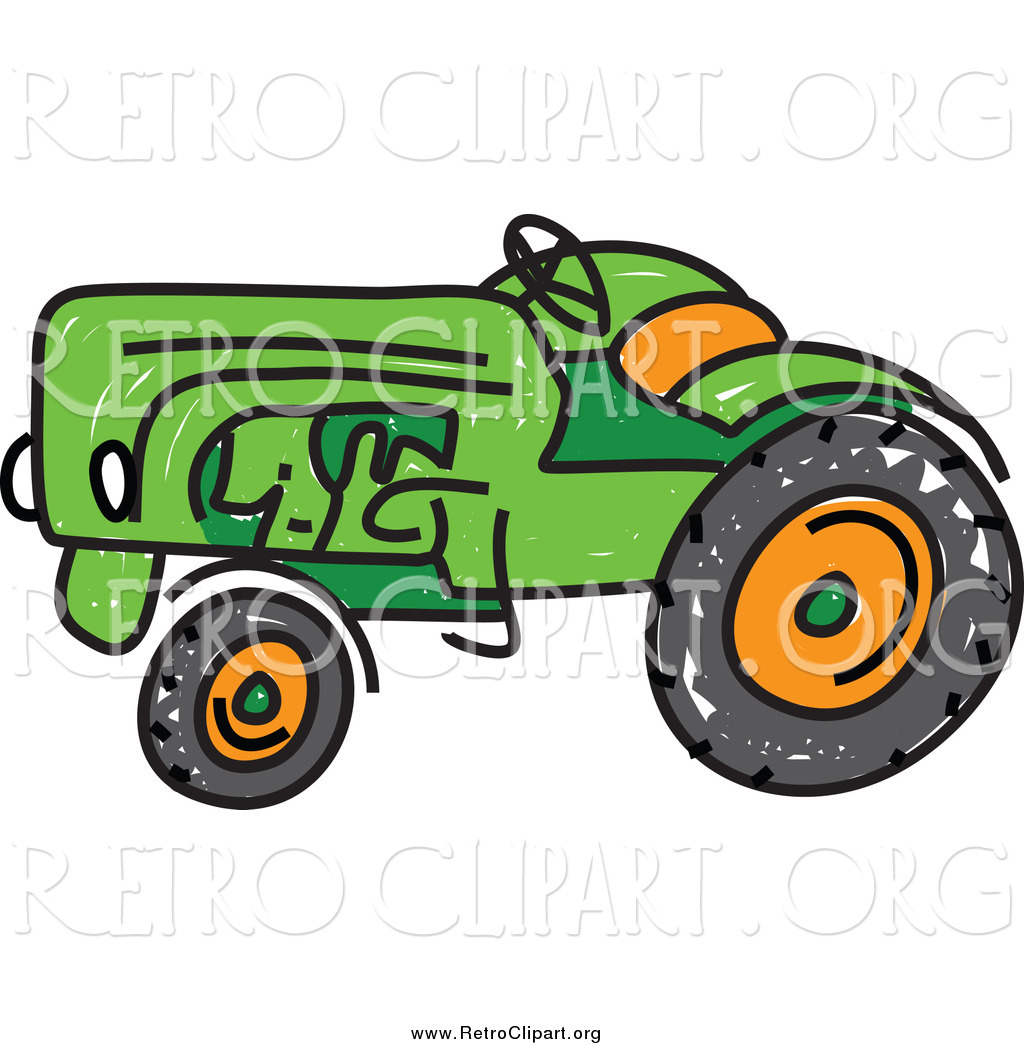 vintage tractor clipart - photo #26