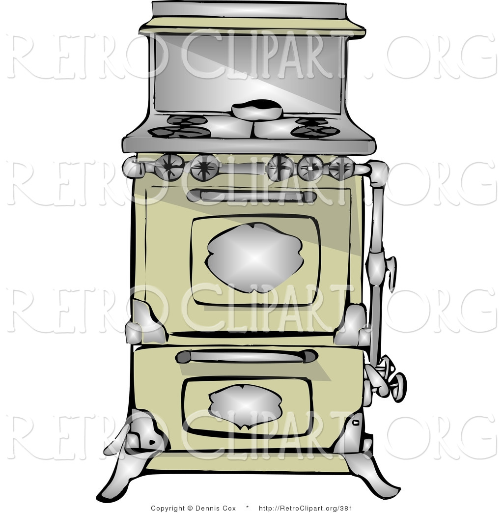 Retro Clipart Of An Antique Retro Kitchen Range And Oven By Dennis Cox