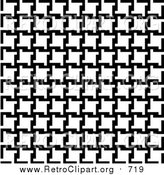 Clipart of a Background of Black and White Houndstooth Pattern by Arena Creative