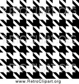 Clipart of a Black and White Seamless Houndstooth Pattern Background by Arena Creative