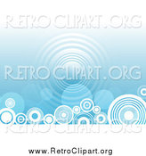 Clipart of a Blue Background with Circles Along the Bottom by KJ Pargeter