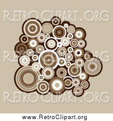 Clipart of a Cluster of Brown and White Retro Circles by KJ Pargeter