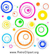 Clipart of a Funky Background with Retro Circles by Prawny
