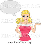 January 7th, 2015: Clipart of a Retro Blond Bombshell with a Thought Balloon by BNP Design Studio