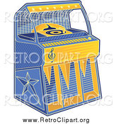 Clipart of a Retro Juke Box Machine by Any Vector