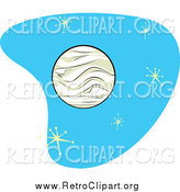 Clipart of a Retro Planet Venus with Stars by Xunantunich