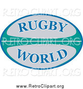 Clipart of a Retro Rugby World Ball by Patrimonio