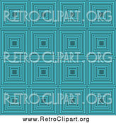 Clipart of a Retro Turquoise Pattern Background by KJ Pargeter