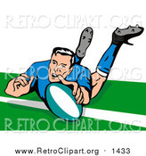 July 6th, 2017: Clipart of a Rugby Football Player by Patrimonio