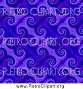 Clipart of a Spiraling Blue Pattern Background by Arena Creative