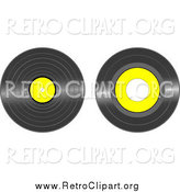 Clipart of Black and Yellow Vinyl Records by Tdoes