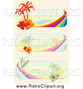 Clipart of Tropical Surf Website Banners by MilsiArt