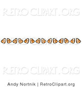 Retro Clipart of a Border Made from Candy Corn by Andy Nortnik
