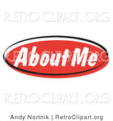 Retro Clipart of a Red About Me Internet Website Icon Button by Andy Nortnik