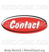 Retro Clipart of a Red Contact Internet Website Icon Button by Andy Nortnik