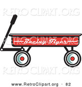 Retro Clipart of a Red Pull Wagon Retro Design by Andy Nortnik
