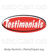 Retro Clipart of a Red Testimonials Internet Website Icon by Andy Nortnik