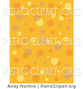 Retro Clipart of a Retro Orange and Yellow Background with Colorful Bubbles and Circles Clipart Illustration by Andy Nortnik