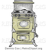 Retro Clipart of an Antique Retro Kitchen Range and Oven by Djart
