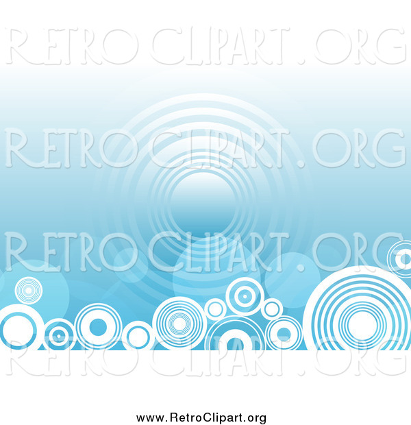 Clipart of a Blue Background with Circles Along the Bottom