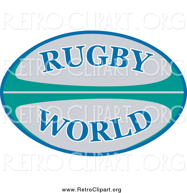 Clipart of a Retro Rugby World Ball