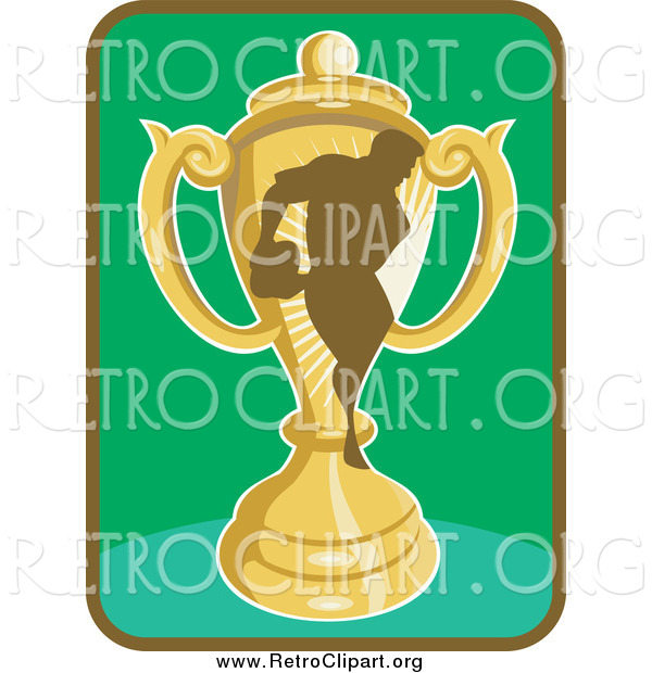Clipart of a Rugby Player and Trophy Icon