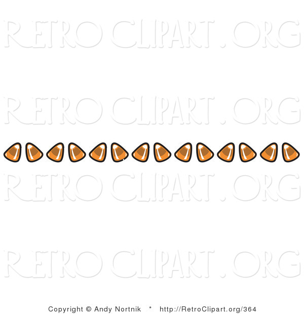Retro Clipart of a Border Made from Candy Corn