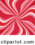 Clipart of a Retro Swirl Background of Red, Pink and White by KJ Pargeter