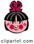 Retro Clipart of a Cheerful Native American Indian Boy by Andy Nortnik