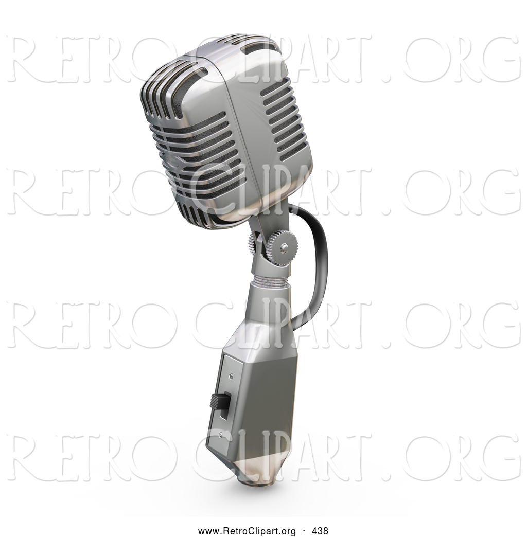 Royalty Free Musical Stock Retro Designs Vintage Microphone Black And White
